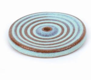 Rökelsehållare 'Swirl', turkos, keramik
