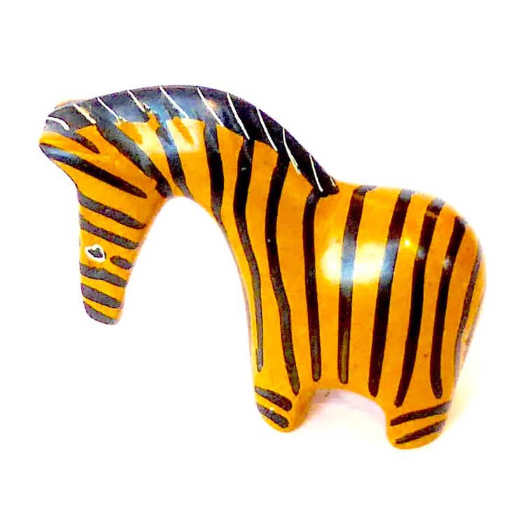 Zebra, gul-svart, täljsten, Fair Trade