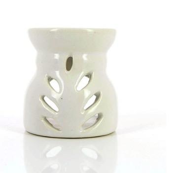 Aromalampa, off-white, glaserad, keramik