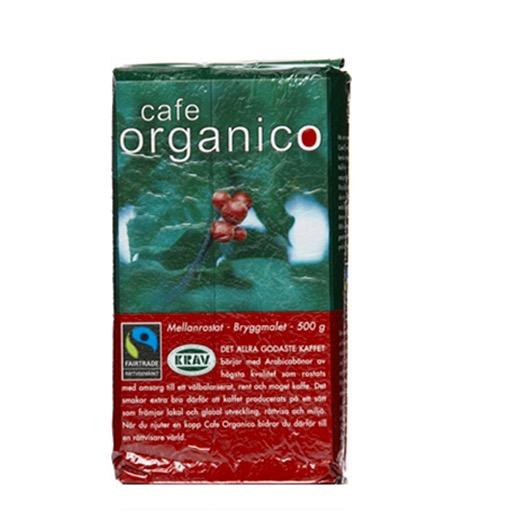 Cafe Organico bryggkaffe, mellanrost på Arabicabönor från Mexiko. Fairtrade, ekologiskt.
