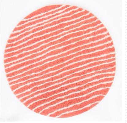 Sittdyna Felt Stripe, rosa-vitt, handtovad, Afroart.