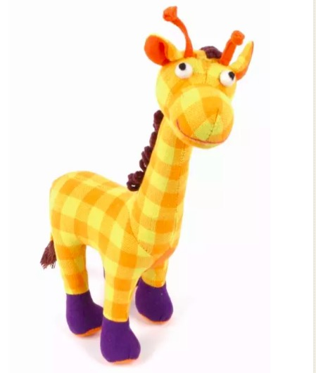 Giraff, soft toy, handvävd bomullstyg, Sri Lanka