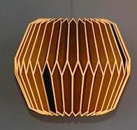 Yoko lampskärm, origami, mörk, Only Natural