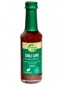 Chilisås Chili Love, Smoked Habanero, Sydafrika.till marinader och grillad. Fair Trade från Sydafrika.