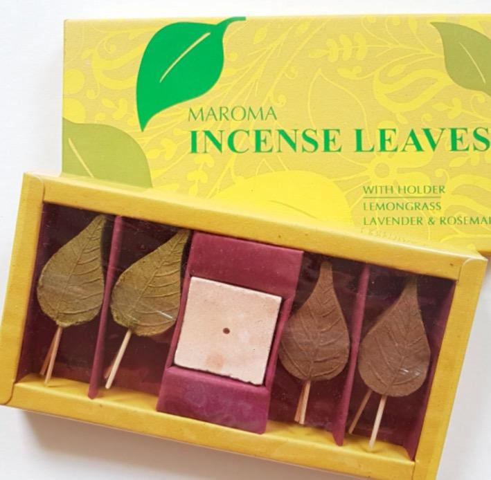 Rökelse, Incense leafs Citrongräs & Lavendel-rosmarin, Maroma