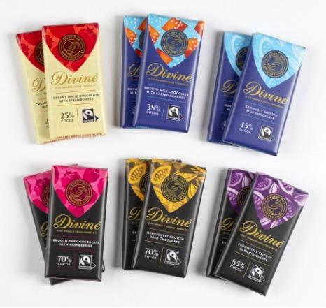 12 små Divine-chokladkakor i 6 olika sorter. Presentförpackning eller prova-på! Innehåller små chokaldkakor: Mörk, vit, mjölk, smaksatt.