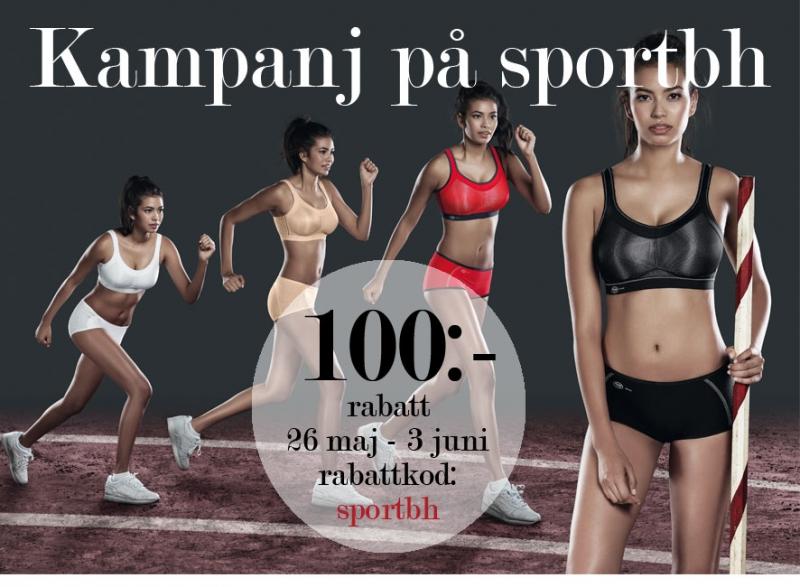 Kampanj på suveräna sportbh Momentum och Delta från Anita Active