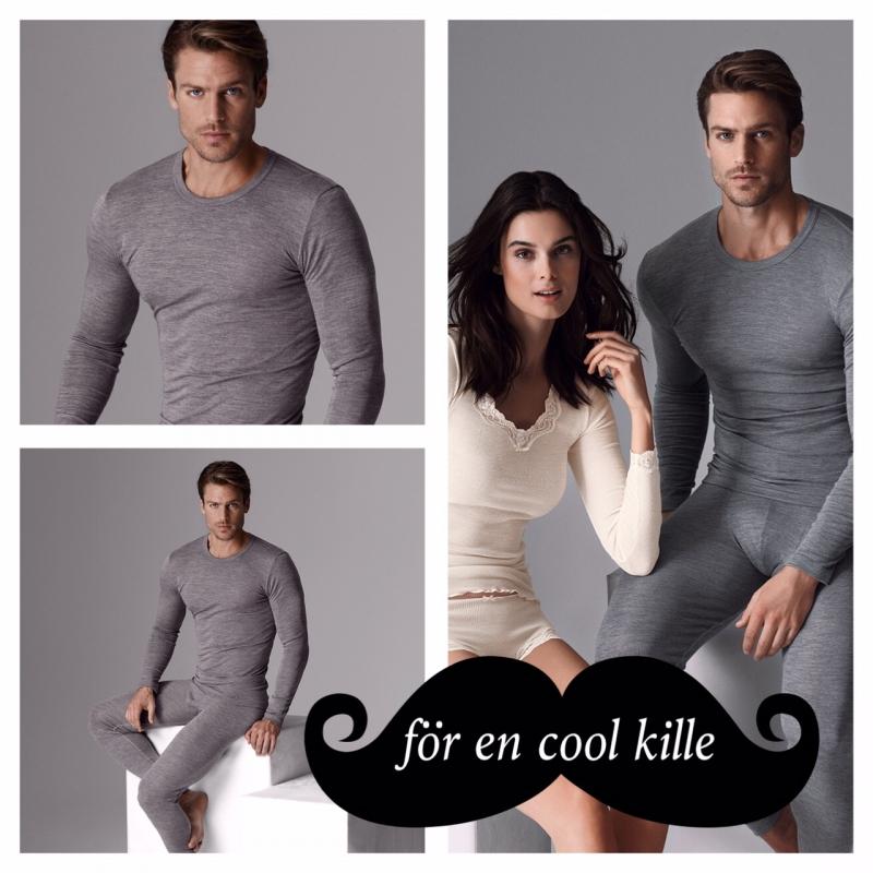 Coola killar värmer sig med ull & silke från Calida!