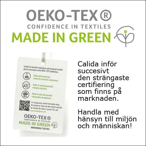Miljövänliga Calida certifierar Oeko-Tex Made In Green®