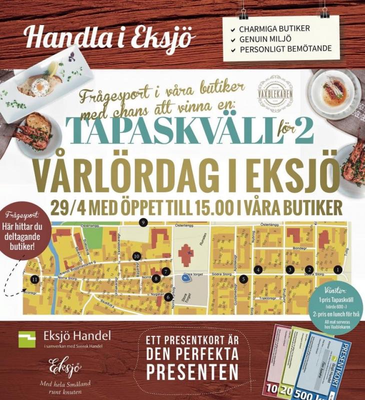 Långlördag med shopping i Eksjö 29/4