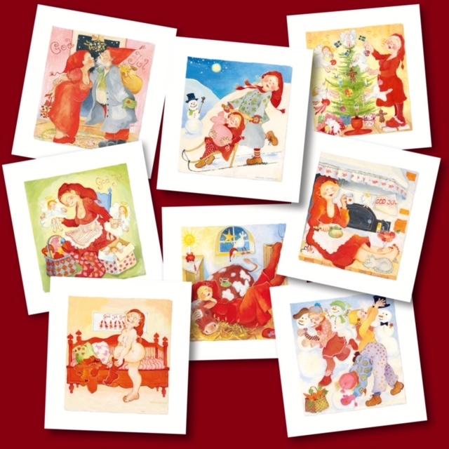 Man blir glad av Birgitta Lindeblads julkort!
