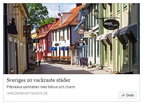 Sveriges 10 vackraste städer!
