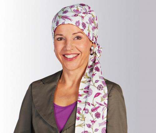 Amoena scarves Lily naturvit, marin