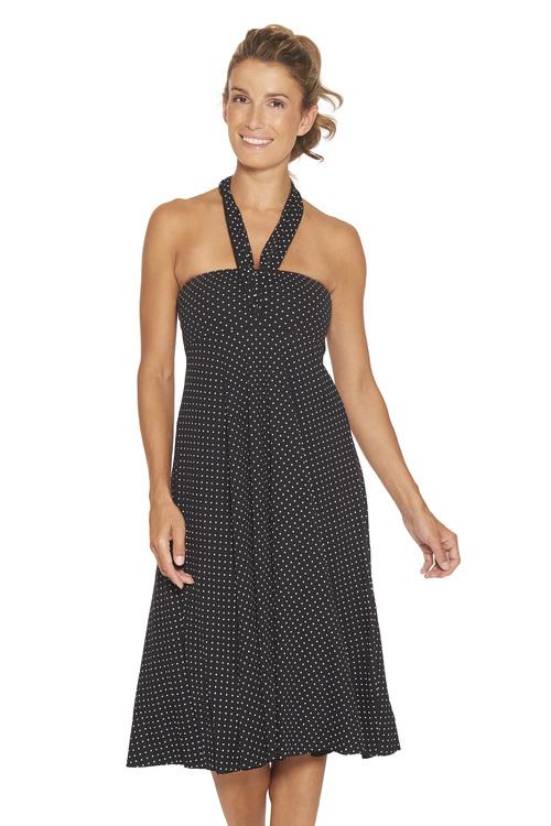WIKI strandklänning 4-i-1 72-205 svart (ej prickig som på bilden)