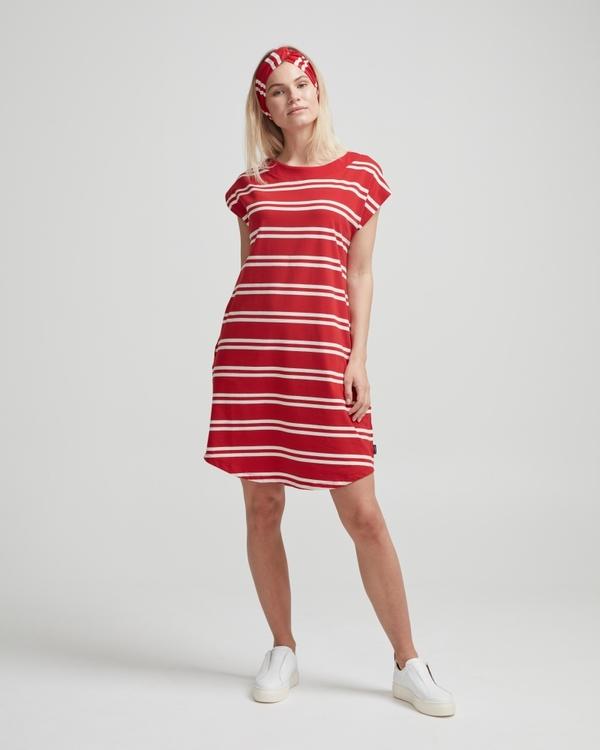 Holebrook Nathalie Capsleeve Dress 912619 Scarlett/ offwhite
