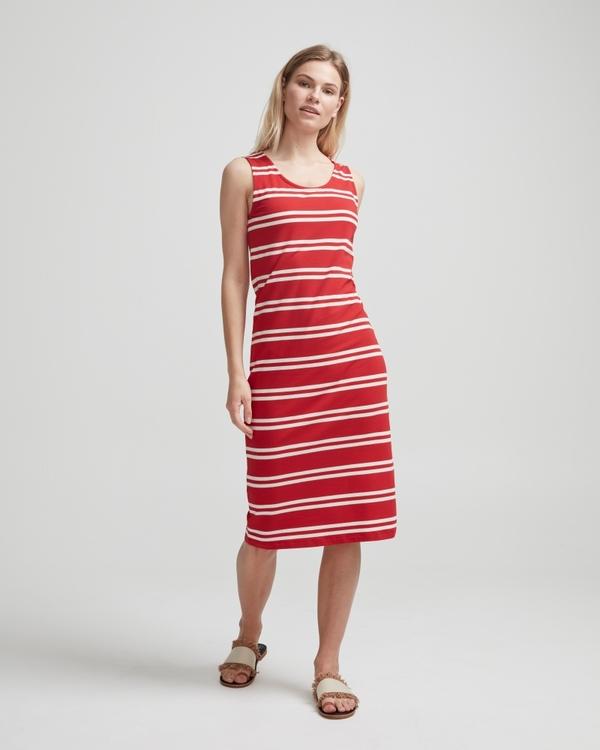 Holebrook Nathalie Tank Dress 912608 Scarlett / offwhite