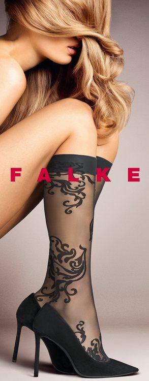 Falke knästrumpa 41844 / pinot noir 8727/ svart 3009