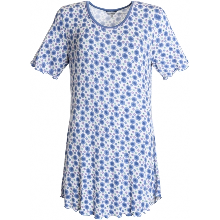 Lady Avenue Bigshirt 66-205 / Floral blue