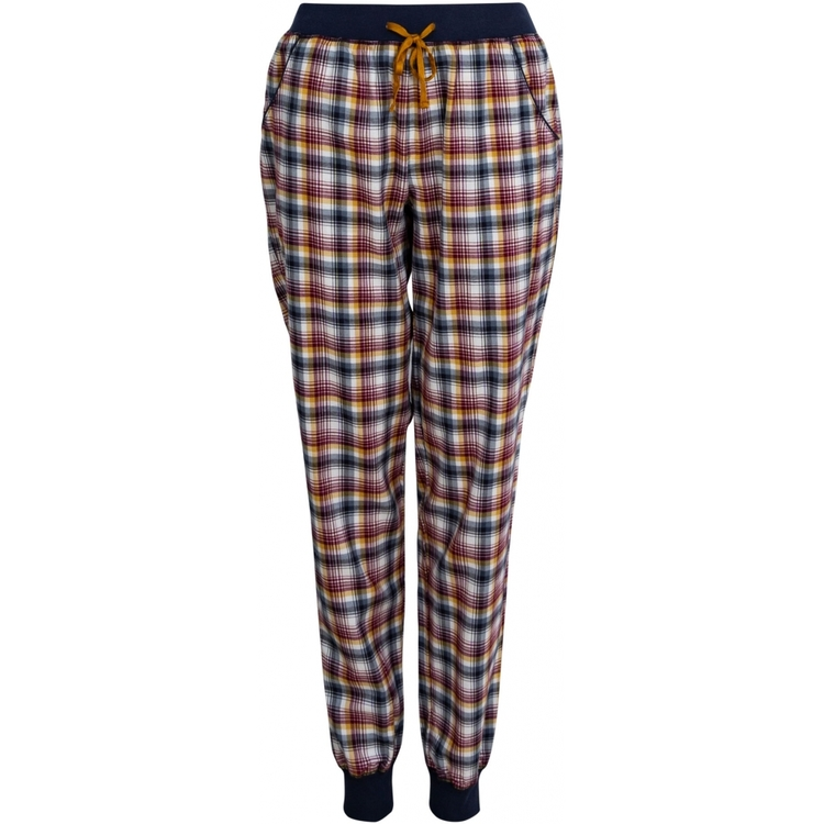Lady Avenue pyjamasbyxa / mysbyxa bomullsflanell 83-1061 / indigo/amber 318