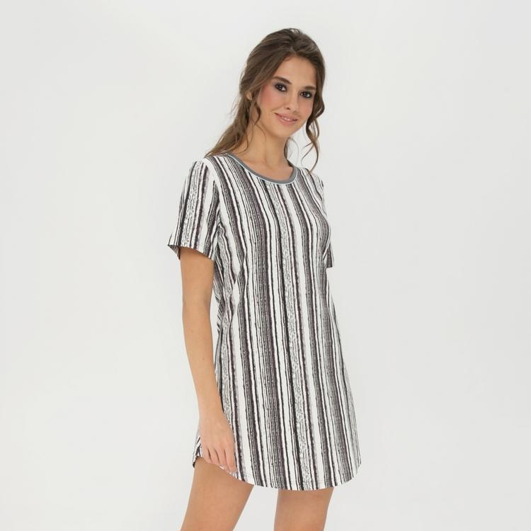 Lady Avenue Bigshirt Soft Bamboo 53-1035 / 305 Black/Aqua