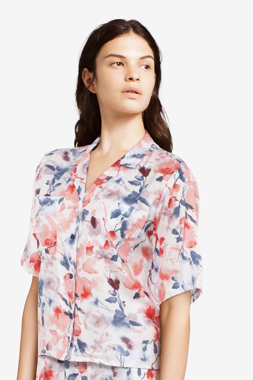 Femilet pyjamasjacka Suzie FN8260 blommig