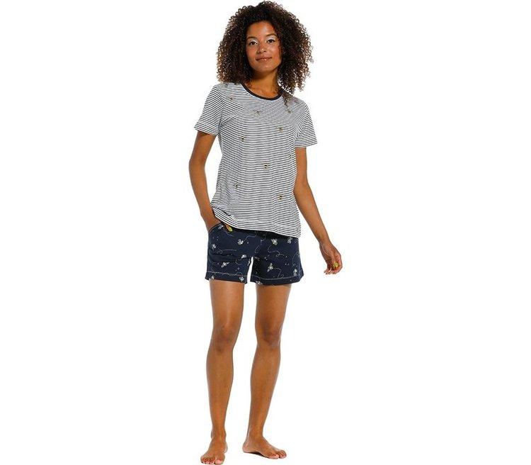 Pastunette Rebelle pyjamas dam 31211-400 blå/vit