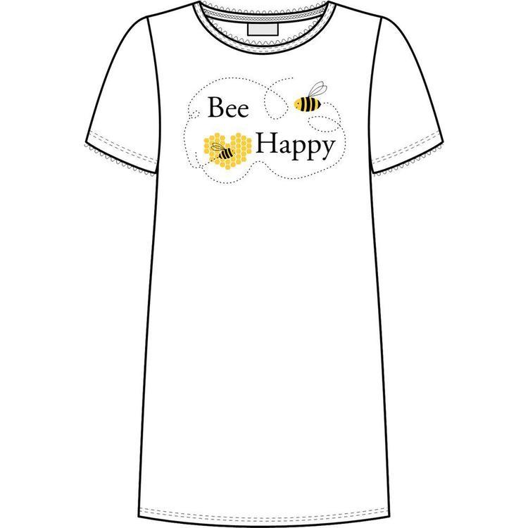 Trofé nattlinne Bee Happy 61121 vit