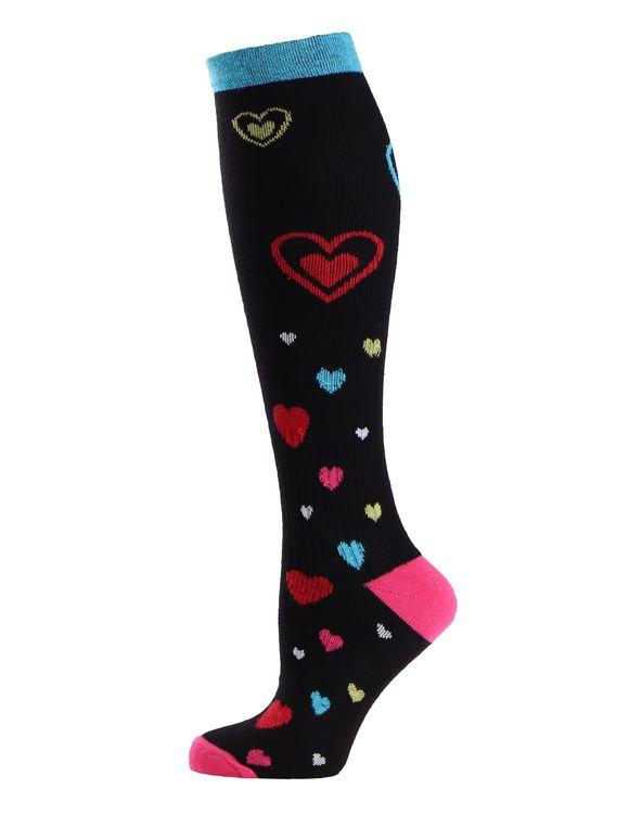 Trofé Support socks knä 01601 1244 svart/röd