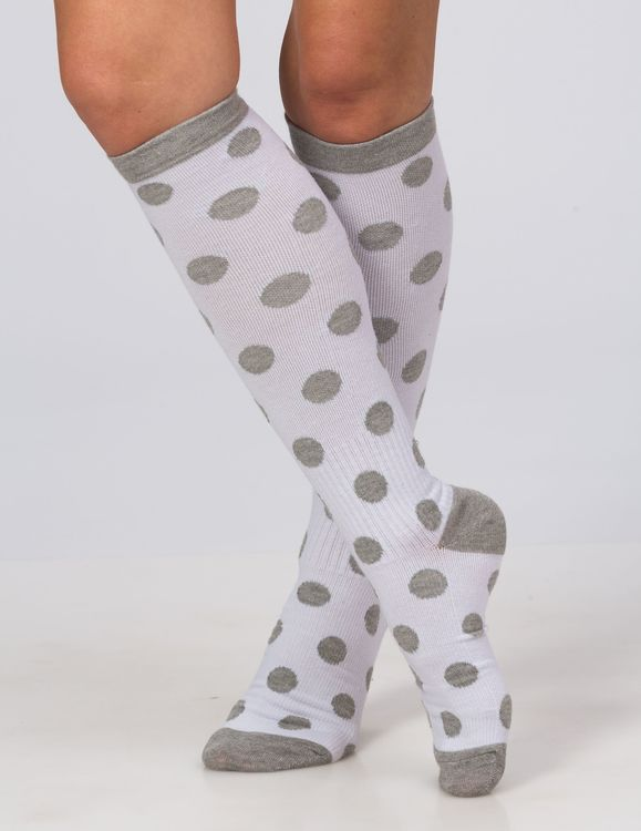 Trofé Support socks knä 01601 1022 vitprick