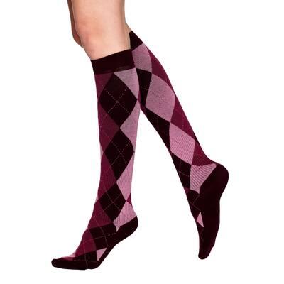 Vogue Support Flight socks knä 96358 dark wine