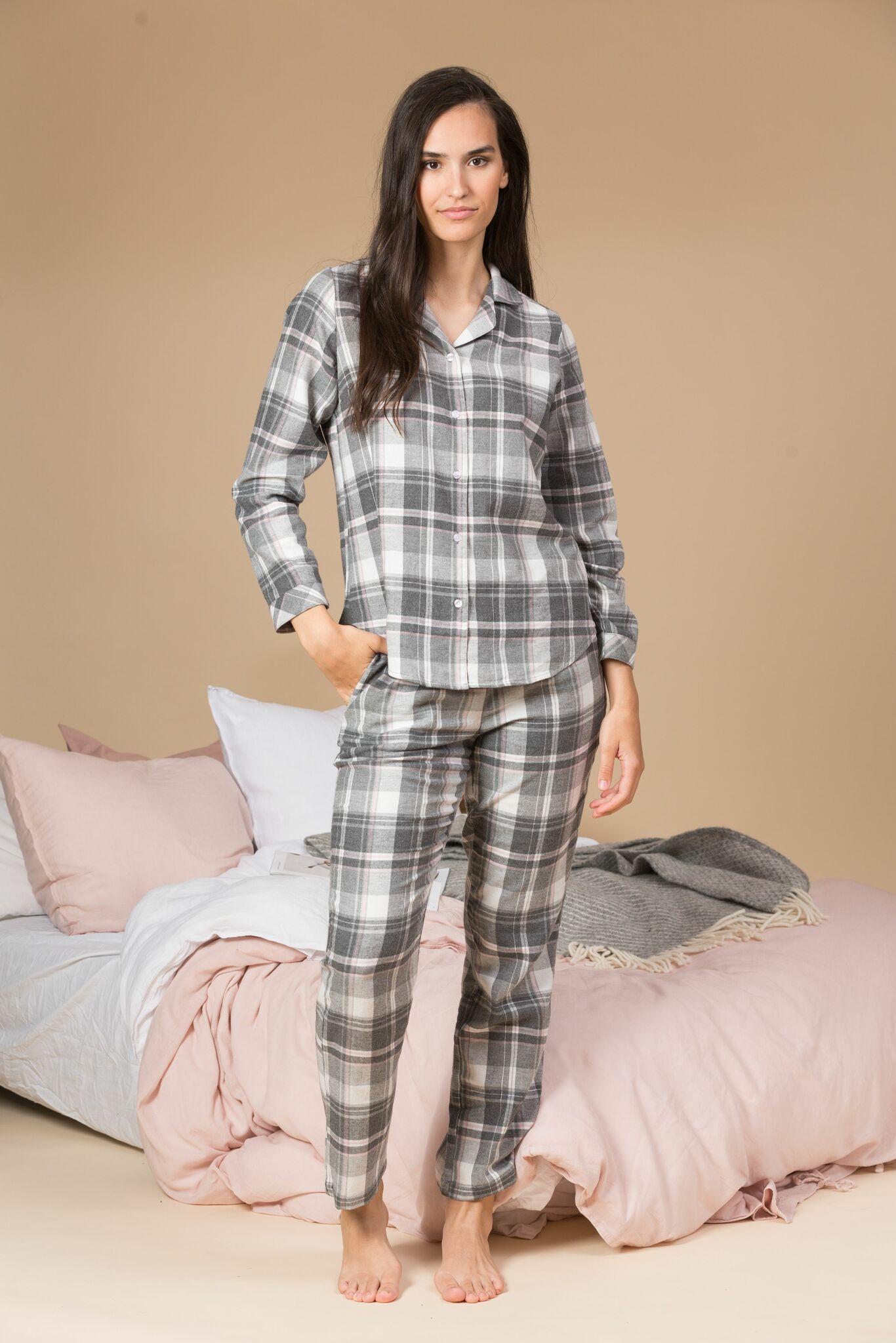 Trofé pyjamas flanell 61246 grå