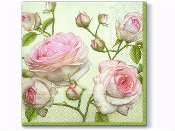 Servetter vackra rosor