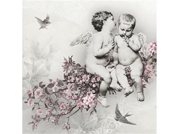 Servetter med änglar- Vintage