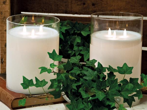 Eternity Candle -  Stor LED lykta med 3 lågor och timer