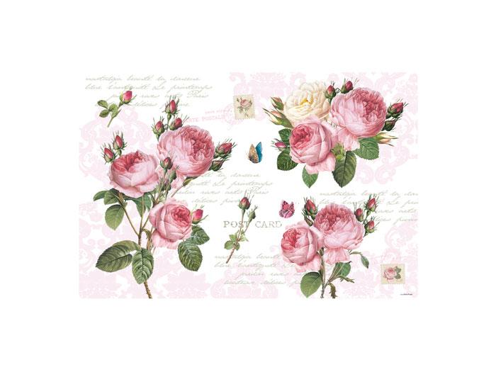 Bordsablett/ underlägg  med rosor