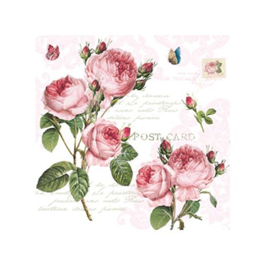 Servetter med rosor