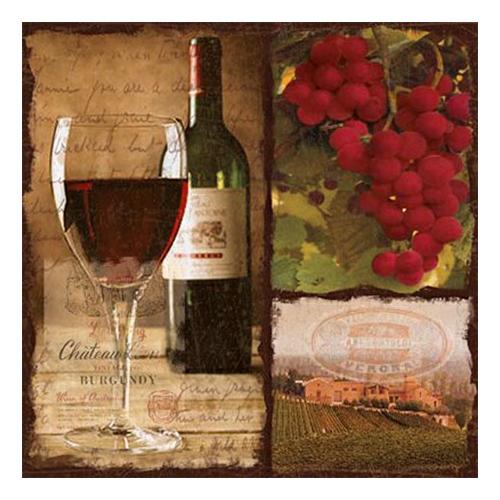 Servetter med vinmotiv