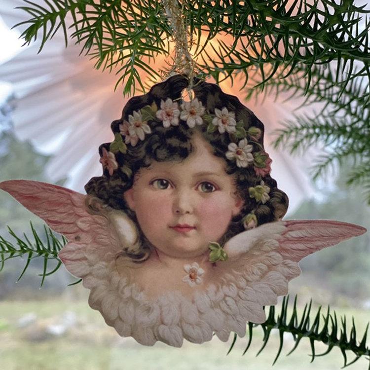 Bokmärkeshängen med olika änglar - 6 st