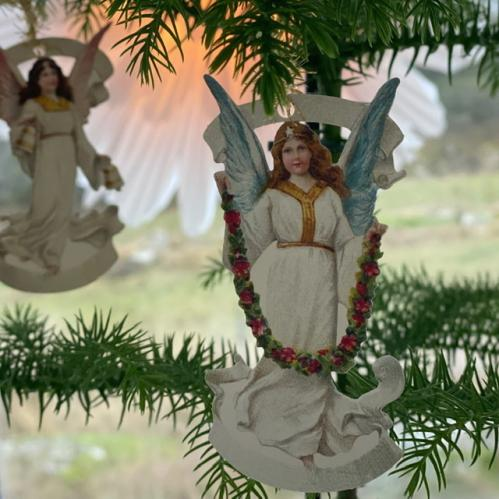Bokmärkeshängen med änglar - 6 st