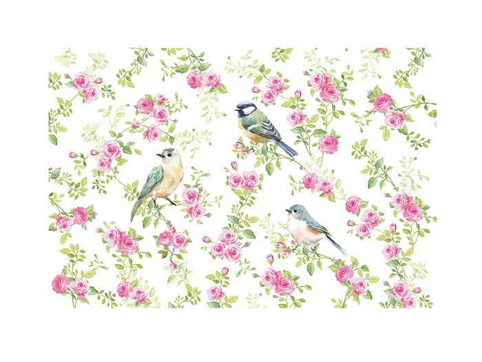 Bordsablett/ underlägg  med fåglar