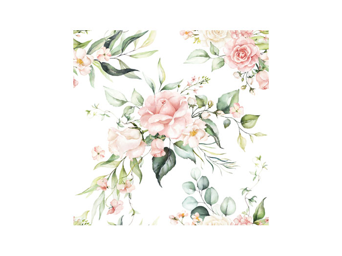Servetter rosor och blad