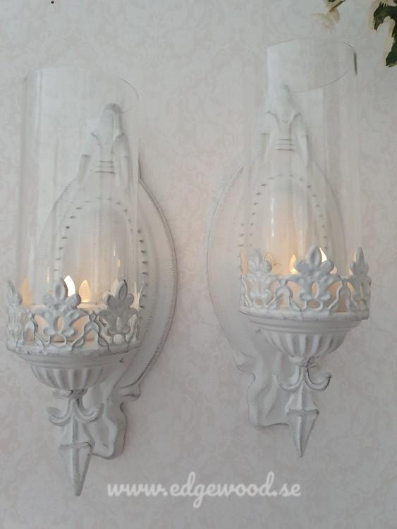 Vägglampetter spets- 2 styck