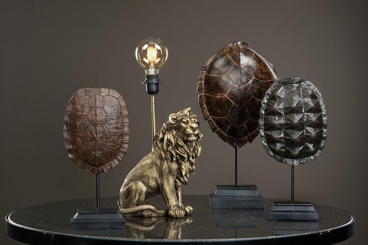 Bordslampa Lejon- Mörk guld