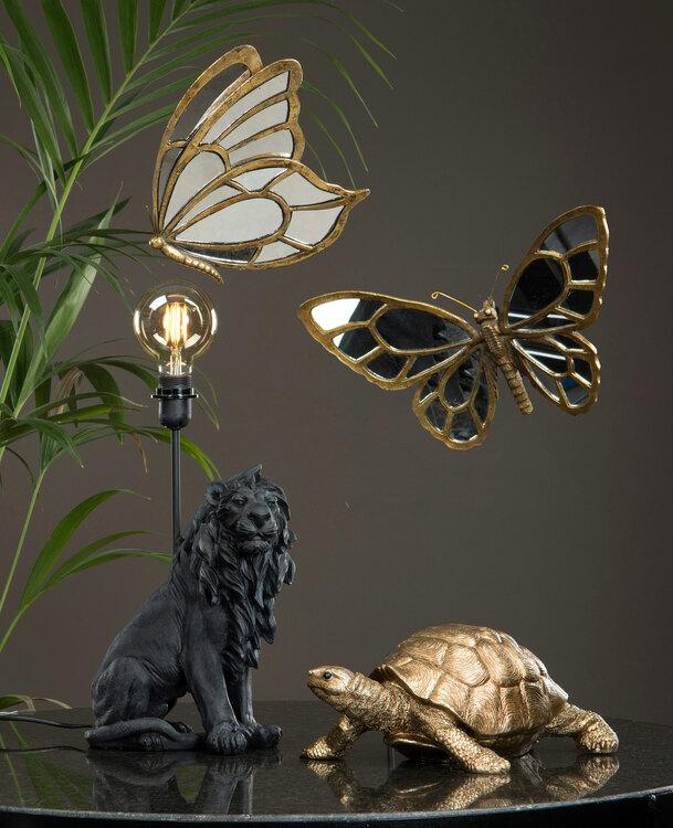 Bordslampa Lejon- Svart