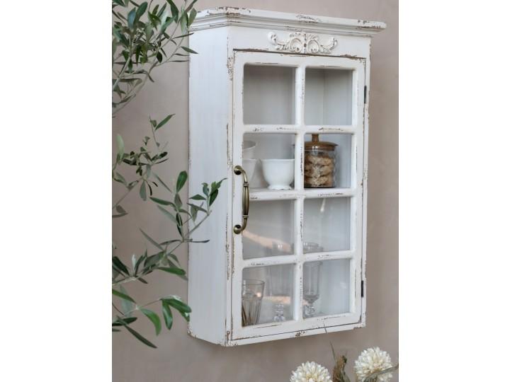 Väggskåp med dekor och spröjs- Chic Antique