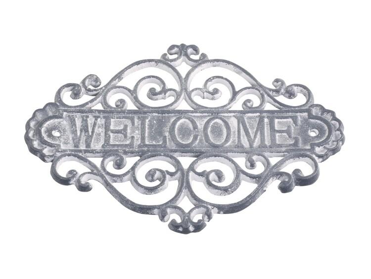 Skylt Welcome - Chic Antique Grå