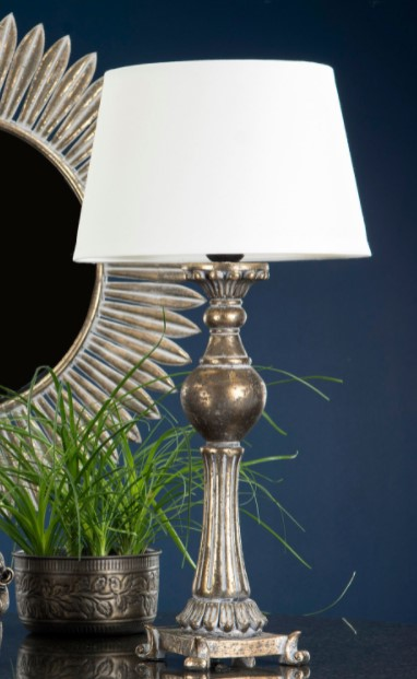 Lampfot i barockstil- H 51 cm