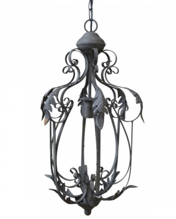 Ljuskrona med bladdekor H59 cm- Chic Antique