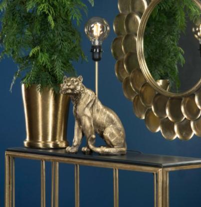 Lampa Tiger Mörkguld